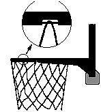 Баскетбольное кольцо с травмобезопасным захватом